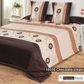 Komplet narzuta 18016 CHOCOLATE CREAM 180x220 MDM
