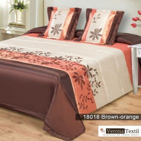 Komplet narzuta 18018 BROWN ORANGE 180x220 MDM