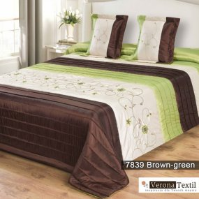 Komplet narzuta 7839 BROWN GREEN 180x220 MDM